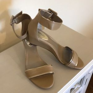 Alfani ankle buckle wedge heal in neutral size 8.5